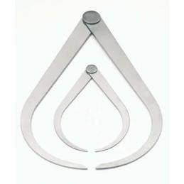 BZ2322-40 Serie 2 compassi in alluminio cm.10.5/20.5
