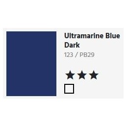 123 Ultramarine blue dark - Acquarello Aquafine